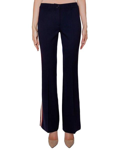 брюки клеш, из вирджинской шерсти с контрастными лампасами артикул LILYXY230131B марки P.A.R.O.S.H. купить за 21000 руб.