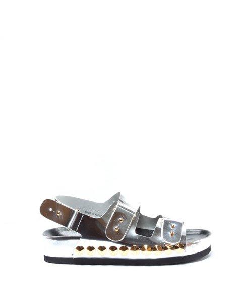 сандалии а-ля Birkenstock с золотистыми шипами артикул LJSX0011 марки Suecomma Bonnie купить за 14500 руб.