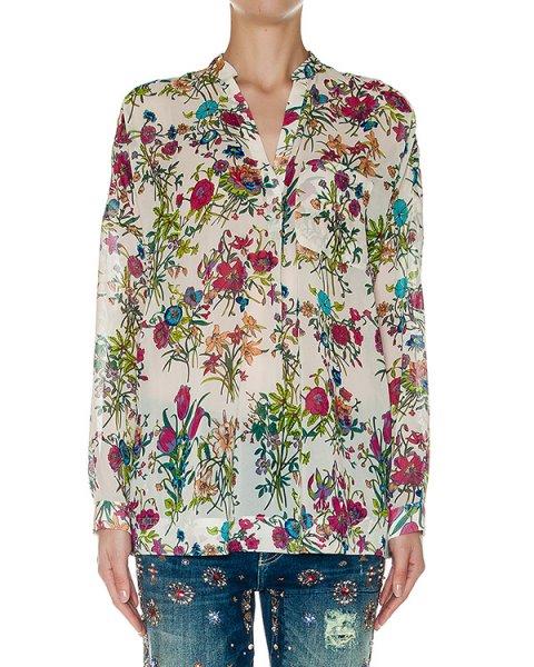 блуза свободного кроя из легкой ткани с цветочным принтом артикул LOUD марки Essentiel купить за 10700 руб.