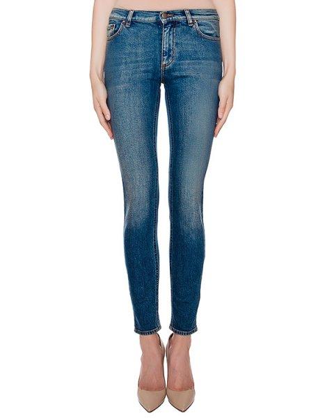 джинсы узкие из плотного денима артикул LR3DE00B марки Valentino Red купить за 20200 руб.