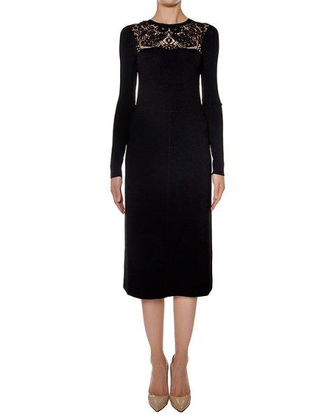 платье из плотной ткани, дополнено кружевной отделкой артикул LR3KD0C5 марки Valentino Red купить за 48200 руб.