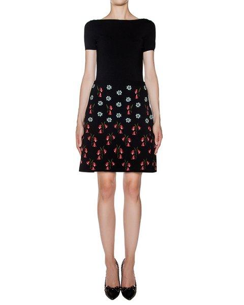 платье приталенного кроя из мягкого трикотажа с цветочным рисунком артикул LR3KD0C8 марки Valentino Red купить за 38400 руб.