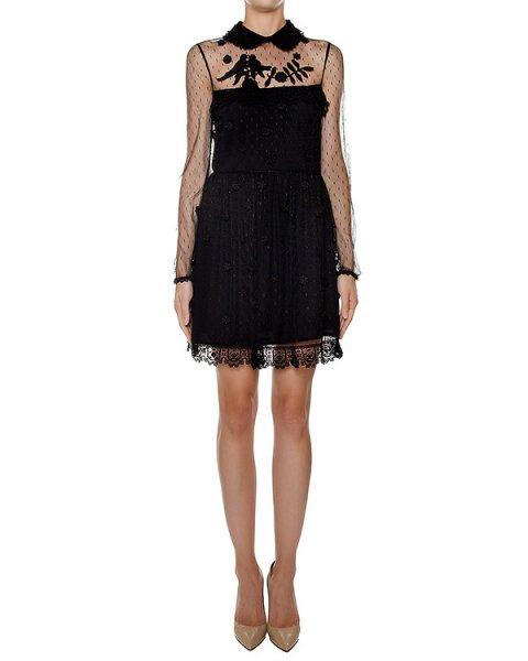 платье из полупрозрачной ткани с вышивкой артикул LR3VA03M марки Valentino Red купить за 62600 руб.