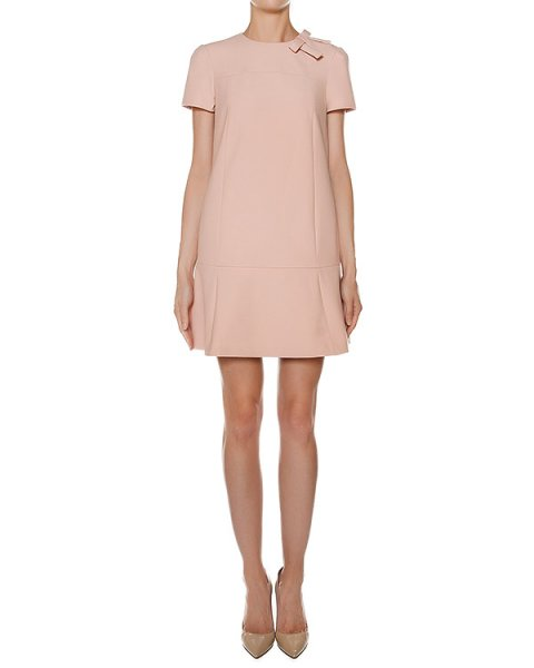 платье из плотной ткани, дополнено бантом артикул LR3VA2W5 марки Valentino Red купить за 34400 руб.