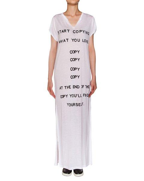 платье свободного кроя из экологически чистой ткани с принтом артикул M118 марки 5Preview купить за 4800 руб.