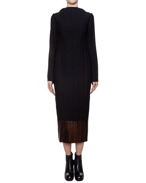 платье из тонкой плиссированной ткани, низ декорирован металлизированным блеском артикул M16I40270 марки MALLONI купить за 24100 руб.
