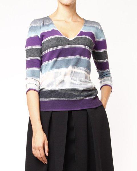пуловер прилегающего силуэта артикул M2M10M марки EMPORIO ARMANI купить за 6100 руб.
