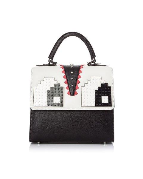 сумка из кожи, дополнена деталями Lego артикул MAEY03V37 марки Les petits joueurs купить за 65000 руб.