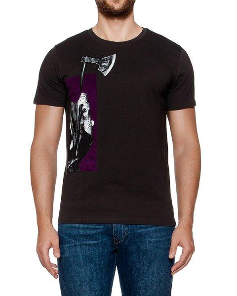 футболка из хлопкового трикотажа с принтом артикул MAFF0005 марки Tee Library купить за 4500 руб.