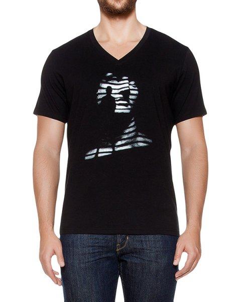 футболка из хлопкового трикотажа с принтом артикул MAFF0009 марки Tee Library купить за 4200 руб.