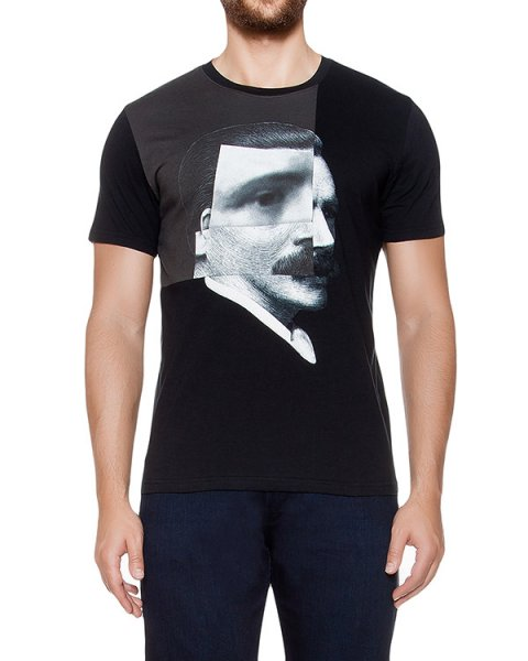 футболка из хлопкового трикотажа с принтом артикул MAFF0027 марки Tee Library купить за 4700 руб.
