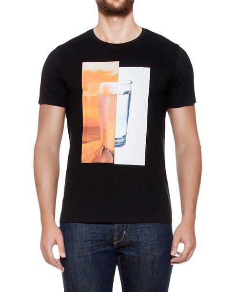 футболка из хлопкового трикотажа с принтом артикул MAFF0064 марки Tee Library купить за 5100 руб.