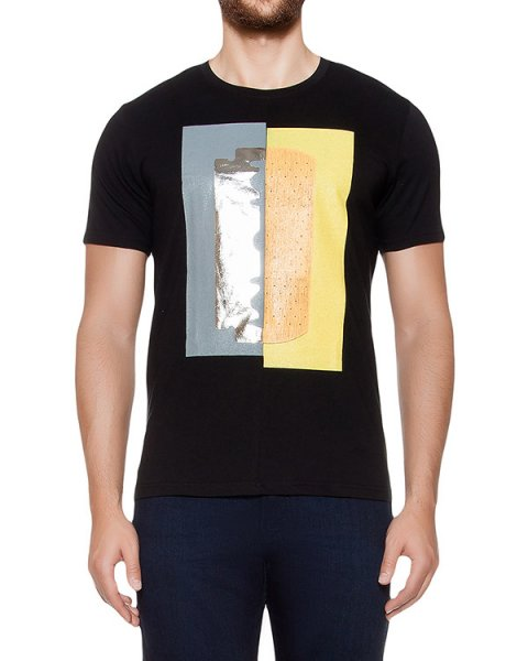 футболка из хлопкового трикотажа с принтом артикул MAFF0065 марки Tee Library купить за 5100 руб.