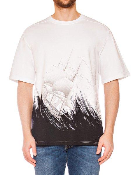 футболка из мягкого хлопкового трикотажа с принтом артикул MAFS0006 марки Tee Library купить за 6200 руб.