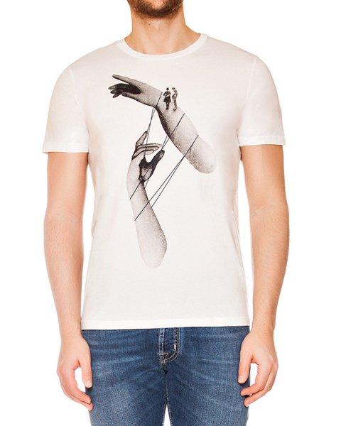 футболка из мягкого трикотажа с монохромным рисунком артикул MAFS0021 марки Tee Library купить за 4500 руб.