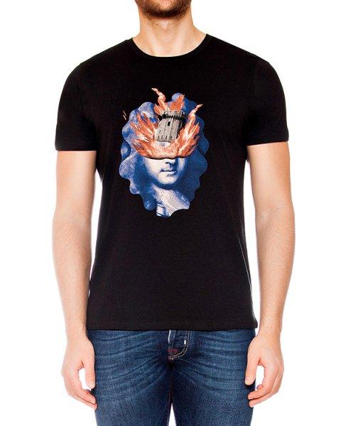футболка из мягкого хлопкового трикотажа с принтом артикул MAFS0023 марки Tee Library купить за 4500 руб.
