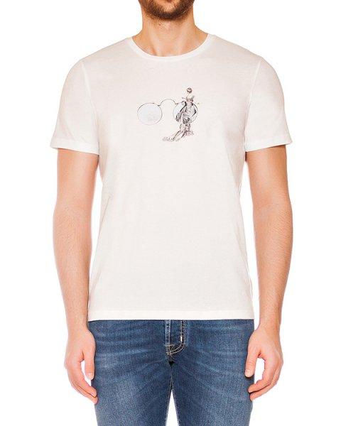 футболка из мягкого трикотажа с монохромным рисунком артикул MAFS0028 марки Tee Library купить за 4500 руб.