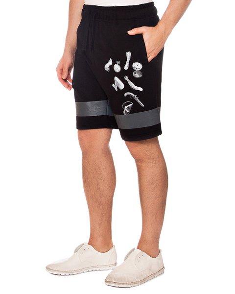 шорты из хлопкового трикотажа с контрастным принтом артикул MAFS4044 марки Tee Library купить за 7100 руб.