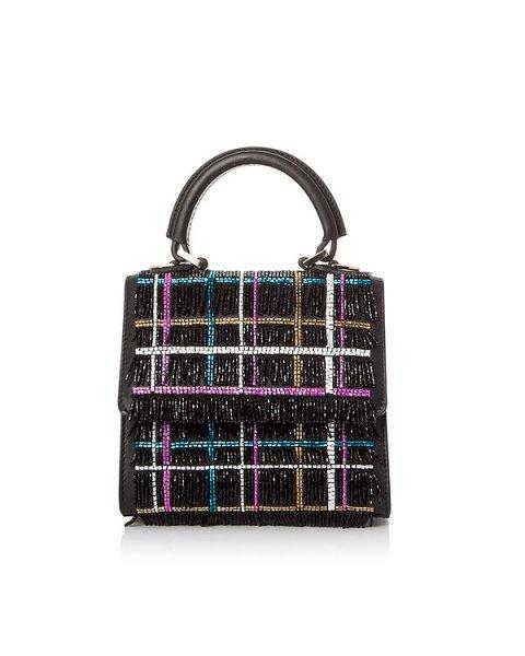 сумка миниатюрная, из натуральной кожи, расшита бисером артикул MCADTV10 марки Les petits joueurs купить за 75000 руб.