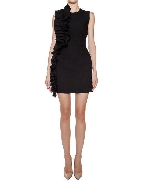 платье из плотной ткани с оборками артикул MDA14X марки MSGM купить за 25500 руб.