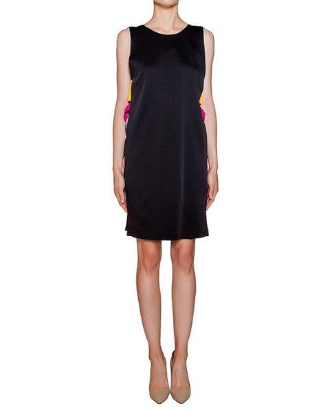 платье прямого кроя из плотной ткани с цветными лентами по бокам артикул MDA158Y марки MSGM купить за 24400 руб.