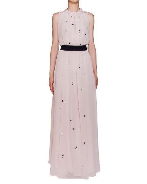 платье в пол из легкой ткани с пайетками и бисером артикул MDA28X марки MSGM купить за 42400 руб.