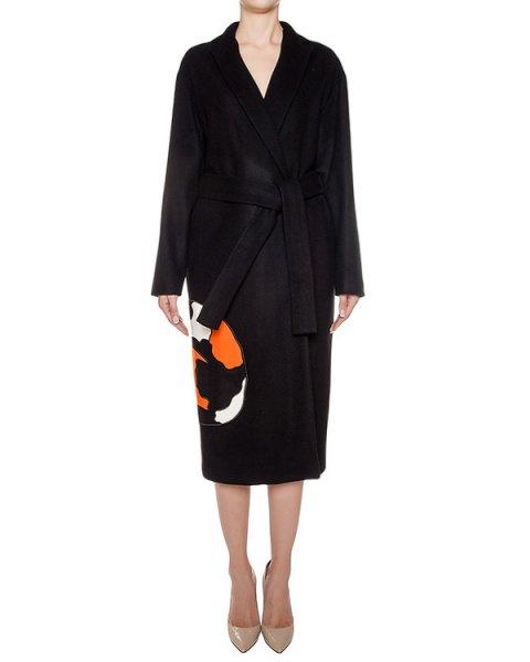 пальто из плотной шерсти с вышивкой артикул MDC18Y марки MSGM купить за 59900 руб.