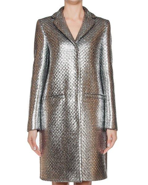 пальто однобортное с блестящим покрытием артикул MDC25 марки MSGM купить за 58900 руб.