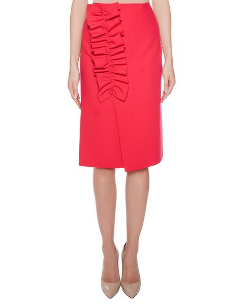 юбка из плотной ткани с оборками артикул MDD05X марки MSGM купить за 22600 руб.