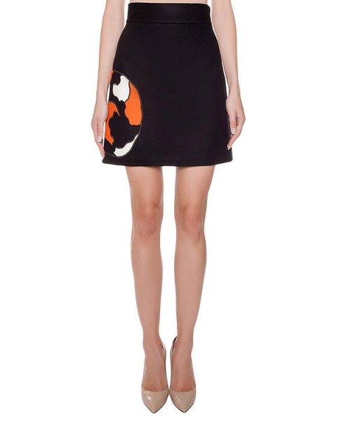юбка из тонкой шерсти с аппликацией артикул MDD20Y марки MSGM купить за 25500 руб.