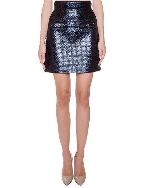 юбка с блестящим покрытием артикул MDD43Y марки MSGM купить за 28900 руб.