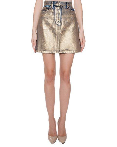 юбка из плотного денима с покрытием артикул MDD45L марки MSGM купить за 18500 руб.