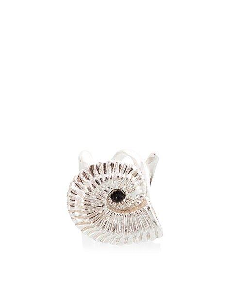 кольцо в виде доисторического ископаемого, украшено вставкой из агата; металл с покрытием из серебра артикул MID07 марки MIDGARD купить за 20000 руб.