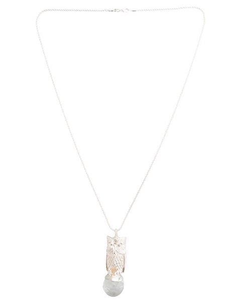 подвеска в виде совы, как символа мудрости, украшена шаром из горного хрусталя; металл с покрытием из серебра артикул MID11 марки MIDGARD купить за 20000 руб.