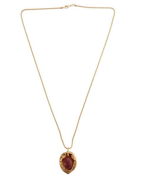 подвеска в виде скорлупы грецкого ореха украшен вставкой с сердоликом; металл с покрытием из золота артикул MID17 марки MIDGARD купить за 20000 руб.
