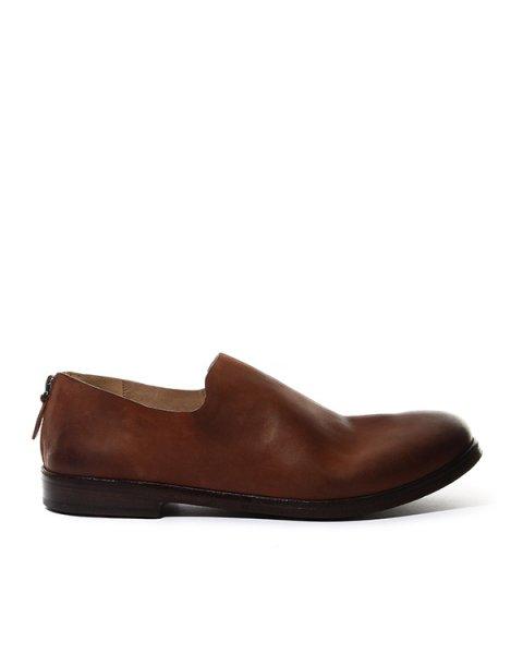 туфли из натуральной кожи с функциональным замком на заднике артикул MM1936 марки Marsell купить за 45100 руб.