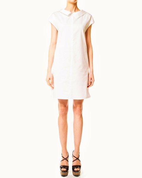 платье прямого рубашечного кроя с цельнокройным рукавом артикул N2A15T марки EMPORIO ARMANI купить за 8800 руб.