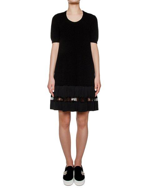 платье из шерстяного трикотажа с шелковой юбкой артикул N2MAH01 марки № 21 купить за 47600 руб.