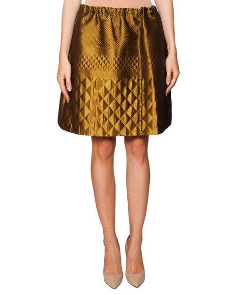 юбка из плотной блестящей ткани в выбитым фактурным узором артикул N2MC052 марки № 21 купить за 22200 руб.