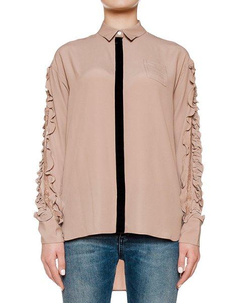 блуза из легкой ткани украшена оборками артикул N2MG051 марки № 21 купить за 42200 руб.