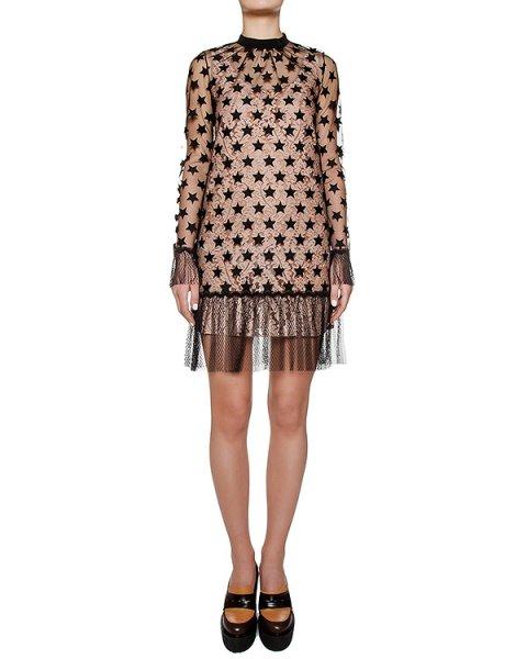 платье из кружева и полупрозрачной сетка, украшено вышивкой в виде звезд артикул N2MH081 марки № 21 купить за 53000 руб.