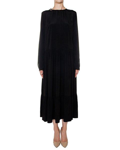 платье из легкой ткани с шелком, украшено аппликацией с кристаллами артикул N2MH242 марки № 21 купить за 72800 руб.