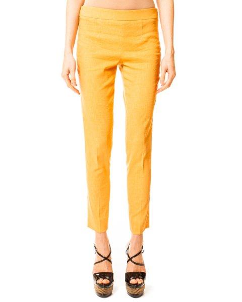 брюки укороченные с боковой молнией и карманами сзади артикул N2P06T марки EMPORIO ARMANI купить за 5900 руб.