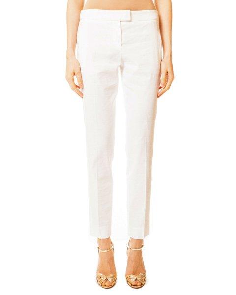 брюки укороченные прямого кроя с врезными карманами артикул N2P17TE марки EMPORIO ARMANI купить за 6600 руб.