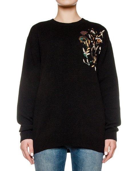 свитер из шерсти альпака, украшен вышивкой и пайетками артикул N2SA029 марки № 21 купить за 48000 руб.