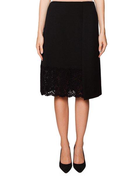 юбка из плотной ткани с кружевной отделкой артикул N2SC082 марки № 21 купить за 26600 руб.