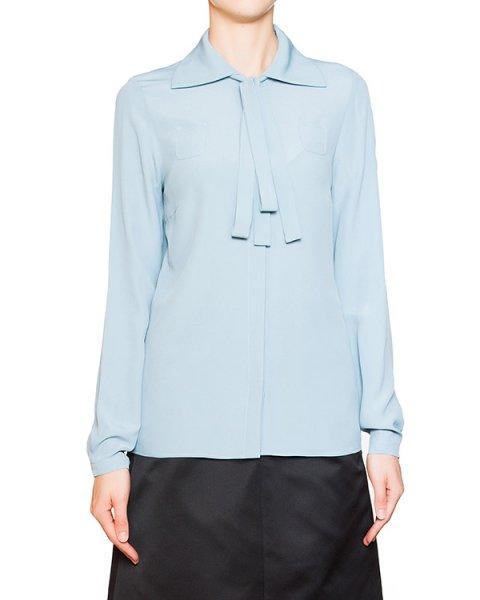 блуза из легкой ткани с добавлением шелка, с отложным воротником и завязками артикул N2SG021 марки № 21 купить за 20600 руб.