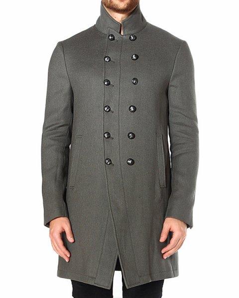 пальто выполненное с отсылками к стилю милитари артикул O1117Q3 марки JOHN VARVATOS купить за 48600 руб.