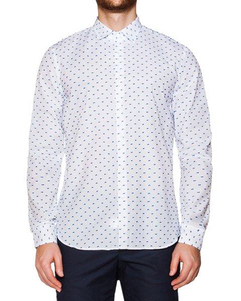 рубашка классического кроя из хлопка с фактурной вышивкой артикул OBS16070C100 марки Obvious Basic купить за 6900 руб.
