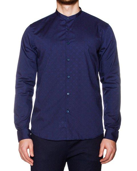 рубашка классического кроя из гладкой ткани с узором артикул OBS16080C107 марки Obvious Basic купить за 5700 руб.